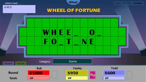 Tim S Slideshow Games Wheel Of Fortune For Powerpoint Wheel Of Fortune Template Powerpoint