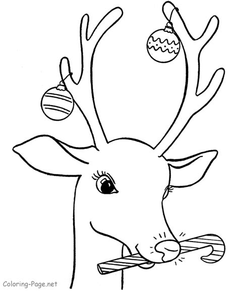 christmas coloring pages rudolph