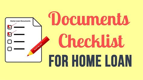 checklist for housing loan documents required for home loan checklist tips