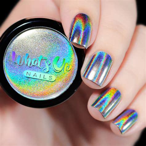 Holographic Nail Powder whats up nails holographic powder nail uk