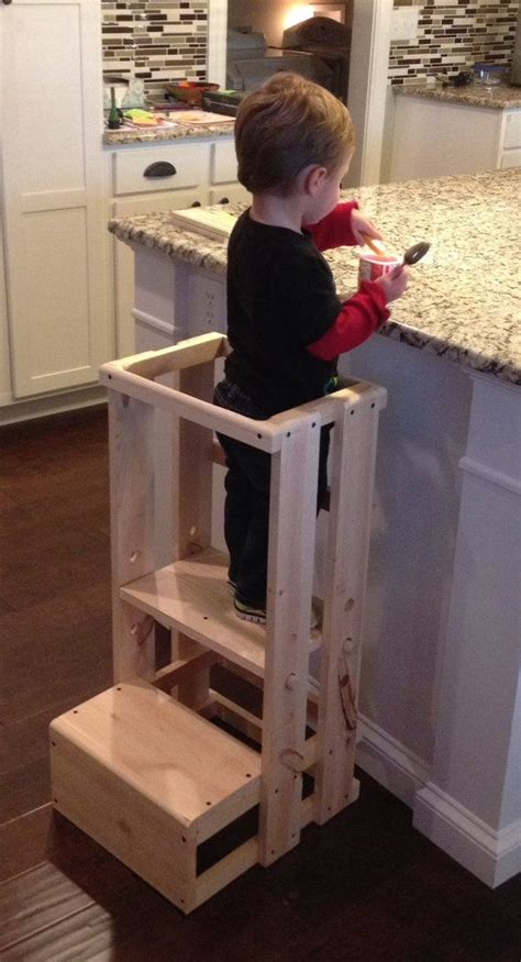 Diy Toddler Step Stool by Best 25 Kitchen Helper Ideas On Child Step