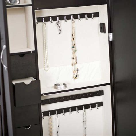 Mirrored Jewelry Armoire by Armoire 224 Bijoux On Jewelry Armoire Jewelry