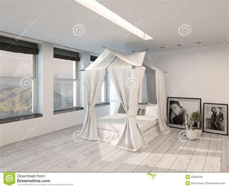 Modern Minimalist Bedroom interno moderno della camera da letto con un letto a
