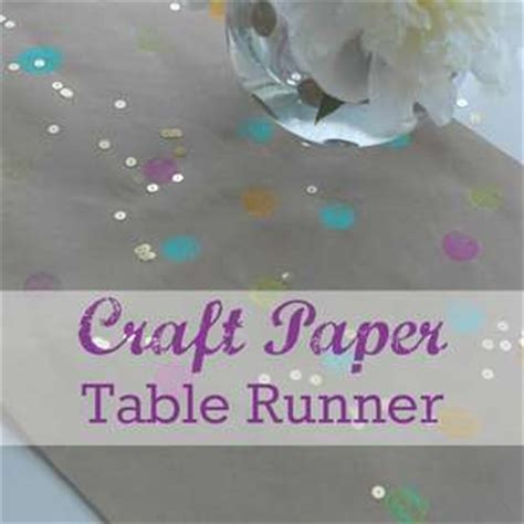 Craft Paper Table Runner - polka dots ideas for a baby shower catch my
