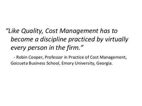 Emory Mba Total Cost by Multidisciplinary Cost Management With Emphasis On Target