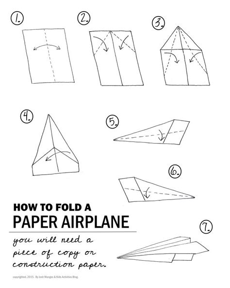 Fold Paper Aeroplane - stem paper airplane challenge activities