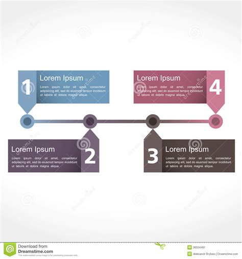 numbers timeline template timeline design stock image image 36504481