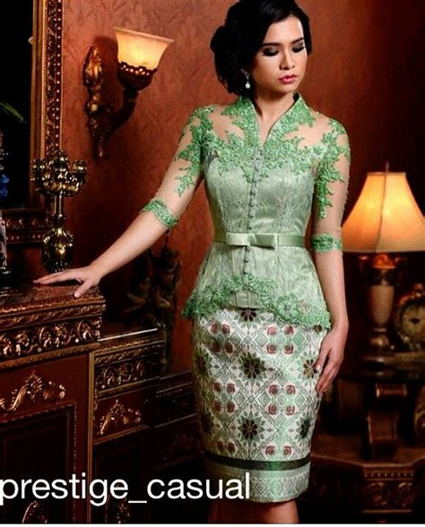 Mini Kebaya Dress Pendek Terlaris green casual kebaya inspirasi kebaya vani kebaya