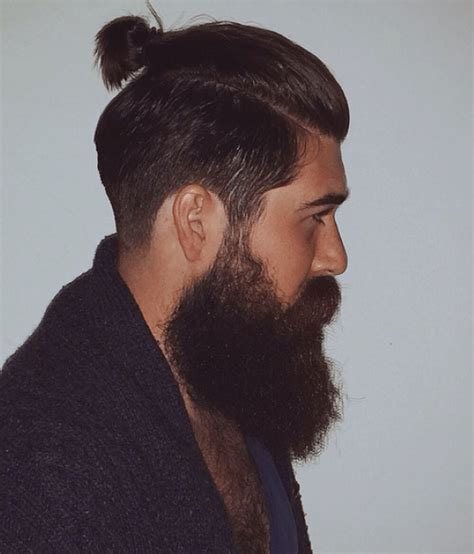 guy ponytail styles ponytail hairstyle hot beard looks suiting the ponytail