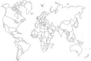 World Map Country Outline by Gallery World Countries Map Outline