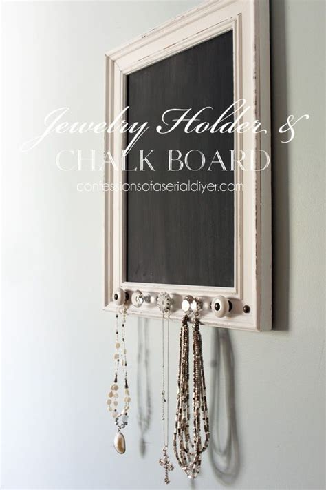 diy chalkboard necklace it s a chalkboard and a place to hang your favorite