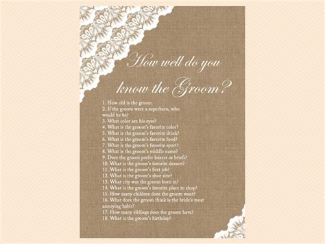 bridal shower knows groom burlap and lace bridal shower printables magical printable