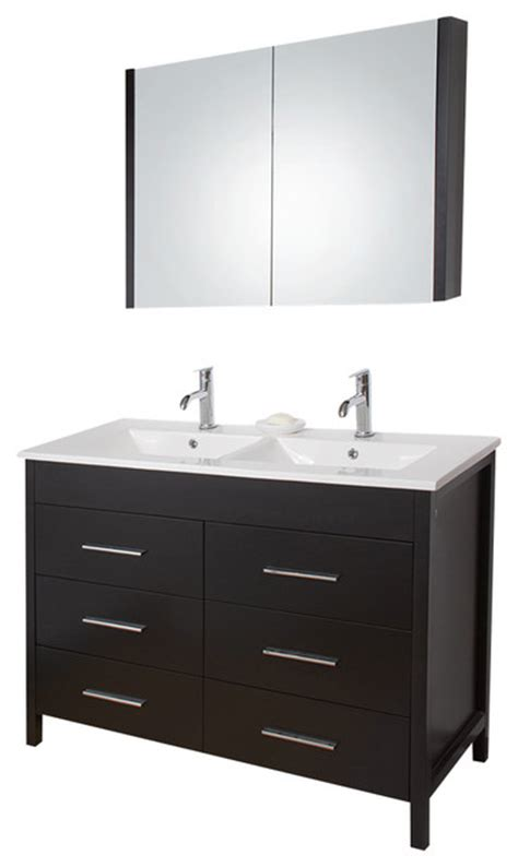vigo 48 inch maxine double bathroom vanity espresso with