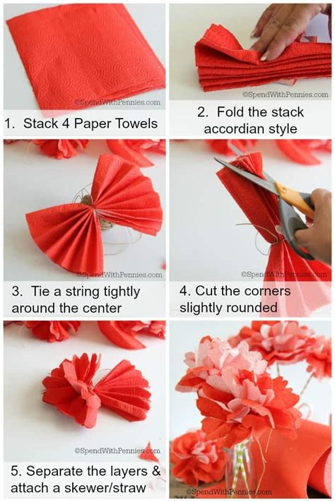 How To Make A Flower Out Of Paper - how to host a summer barbecue make paper towel