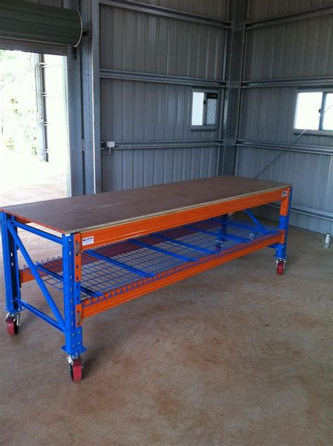 heavy duty workstation  wheels pallet rack garage