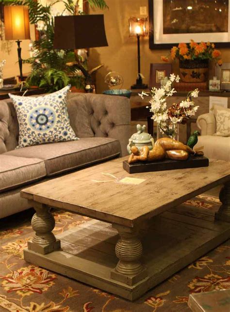 living room table decor decoration ideas attractive brown tufted fabric sofa and brown wooden coffee table decorating