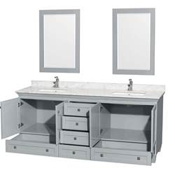 80 inch sink bathroom vanity accmilan 80 inch sink bathroom vanity in grey