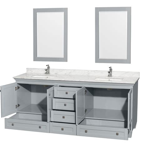 accmilan 80 inch double sink bathroom vanity in grey