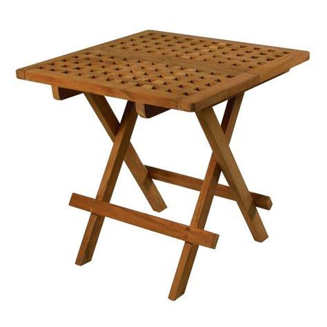 fold away end table seateak teak fold away table marine