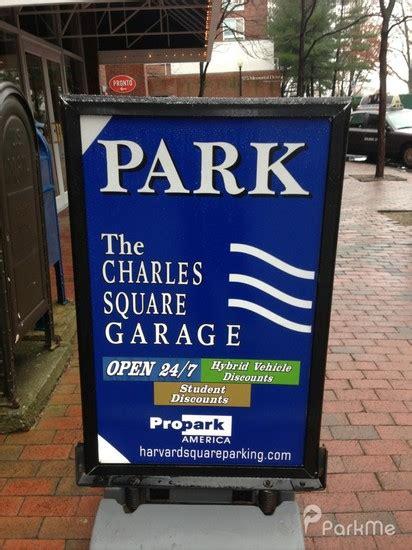 charles square garage parking in cambridge parkme