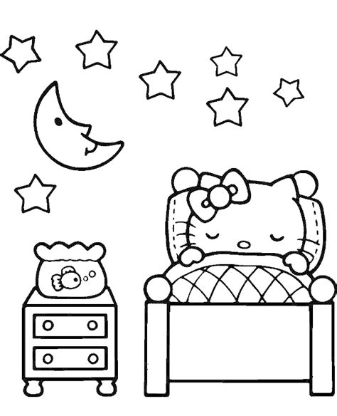 hello kitty coloring pages with numbers sleeping hello kitty coloring book to print or download