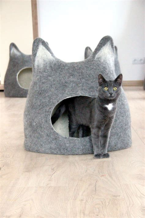 Handmade Cat Bed - pet bed cat bed cat cave cat house eco friendly