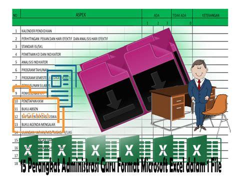 Contoh Natulen Rapat by 15 Perangkat Administrasi Guru Format Microsoft Excel