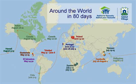 around the world in habitat for humanity global village around the world in 80 days