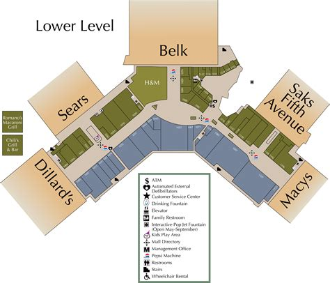 layout of town east mall mall directory triangle town center