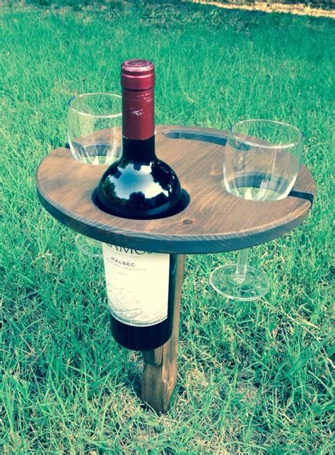 folding outdoor wine table picnic table by hoffmasterwoodworks