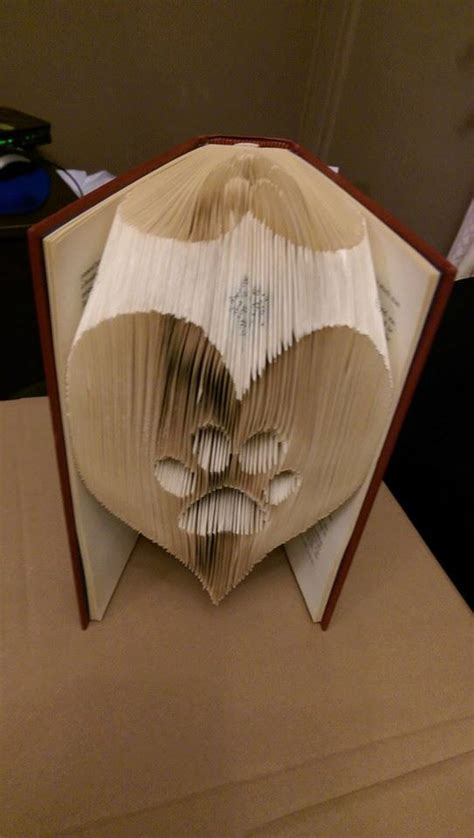Book Folding Origami - paw in a folded book pattern pdf book folding