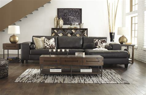 laf sofa rooms to go nokomis charcoal 2 pc laf sofa sectional 87701 66 17