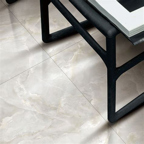 glacier white marble effect polished porcelain wall