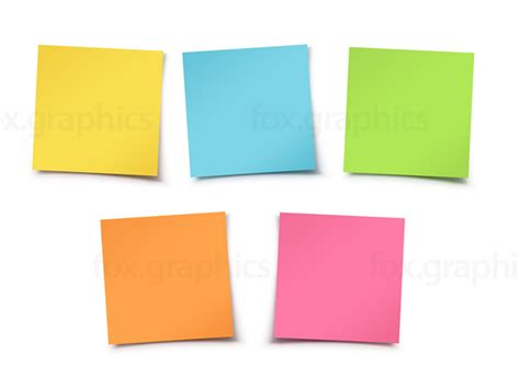 Colorful Sticky Notes Fox Graphics Sticky Note Template