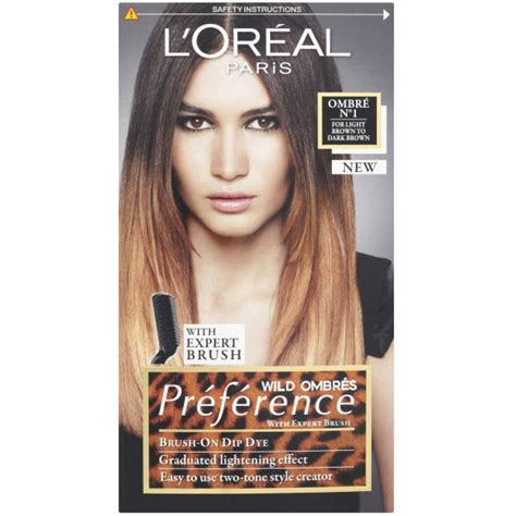 L Oreal Ombre l oreal ombr 233 s pr 233 ference brush on dip dye no1