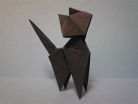 Origami Black Cat - origami cat arte origami