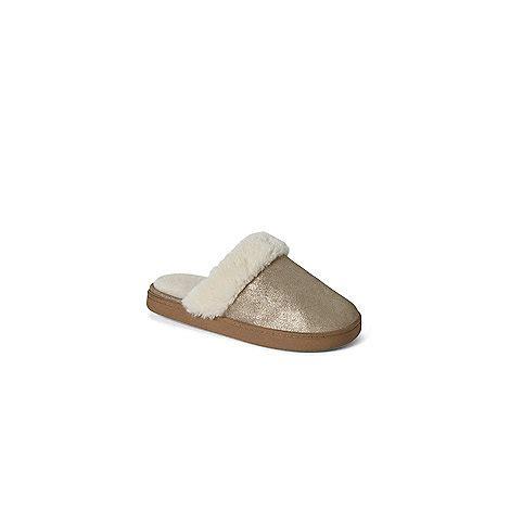 lands end womens slippers lands end gold s metallic mule slippers debenhams