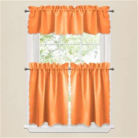 contemporary orange curtains victoria window curtain valance in orange contemporary