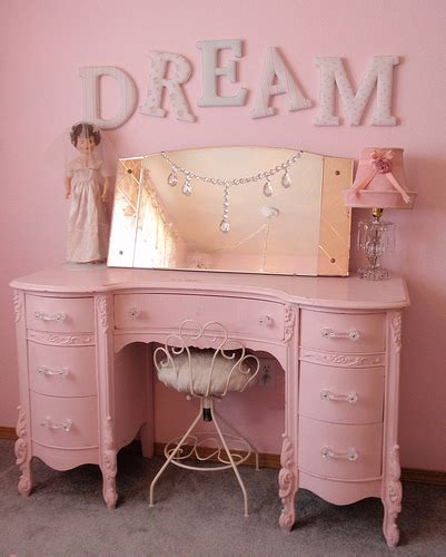 simply shabby chic dream letters pink vanity dresser flickr photo sharing