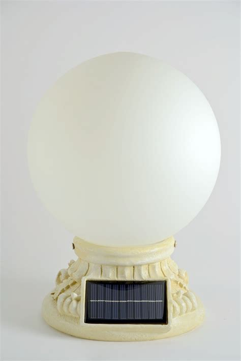 Solar Power 10 Glass Globe Handcrafted Entrance Light Solar Entrance Light