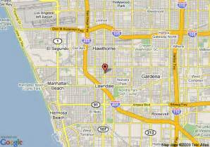hawthorne california map map of baymont inn suites lawndale lawndale