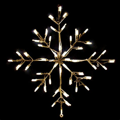 Snowflake Outdoor Lights 24 In Outdoor Led Warm White Snowflake Lighted Display 50 Bulbs Outdoor Light Displays At