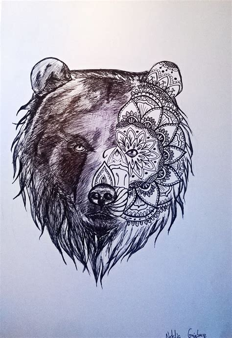 bear tattoo pin by on mandala animal bears