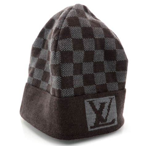 louis vuitton wool bonnet petit damier beanie hat 37371