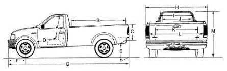 Ford F150 Dimensions 2002 F150 Dimensions Frame Page