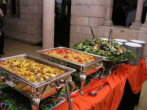 wedding catering buffet style wedding buffet display