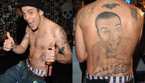 steve o tattoo removed who got inked with the worst tattoos