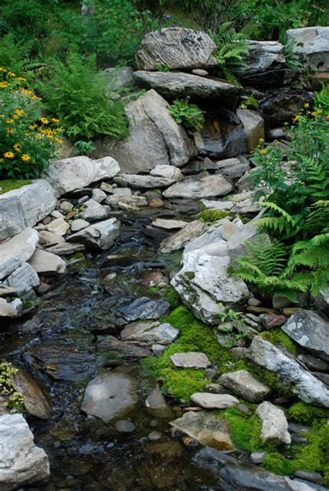 Landscape Creek Water Features Rustic Landscape Other Metro By