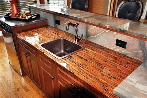 Zebra Wood Vanity Copper Counter Tops Copper Countertop