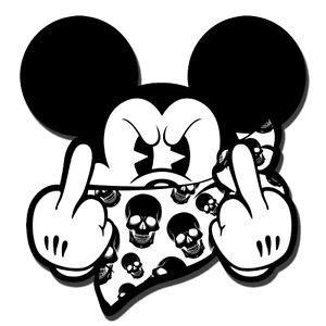 Autoaufkleber Mittelfinger by 2 Aufkleber Bad Micky Maus Mickey Skull Mittelfinger